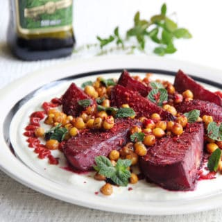 Spiced Beetroot and Chickpea Salad