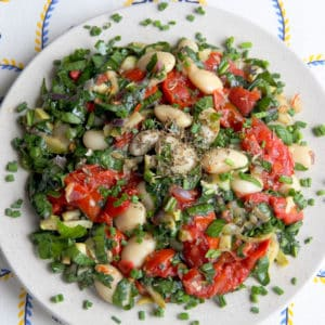 Butterbean and Roasted Vegetable Salad (25 Min, Gluten Free, Vegan)