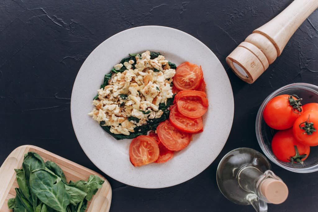Basil and Spinach Scramble