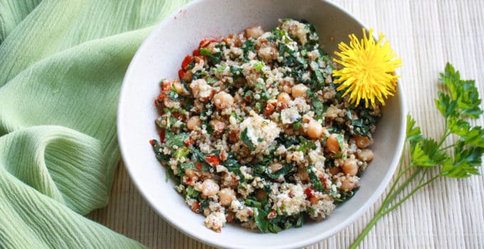 Mediterranean Chickpea Quinoa Salad